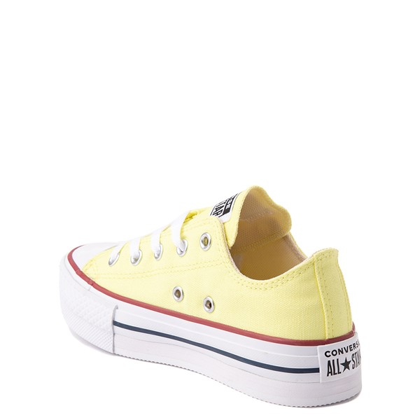 alternate view Converse Chuck Taylor All Star Lift Lo Sneaker - Little Kid / Big Kid - YellowALT1