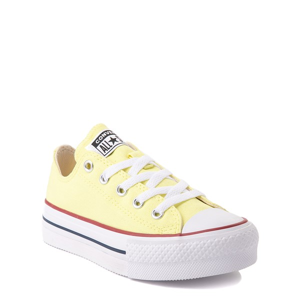 alternate view Converse Chuck Taylor All Star Lift Lo Sneaker - Little Kid / Big Kid - YellowALT5