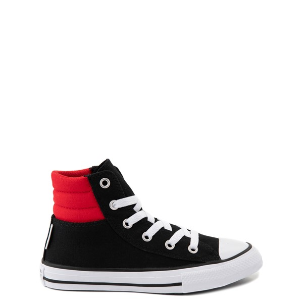 Converse Padded Collar Chuck Taylor All Star Hi Sneaker - Little Kid / Big Kid - Black / Red