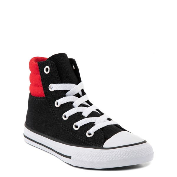 alternate view Converse Padded Collar Chuck Taylor All Star Hi Sneaker - Little Kid / Big Kid - Black / RedALT1B