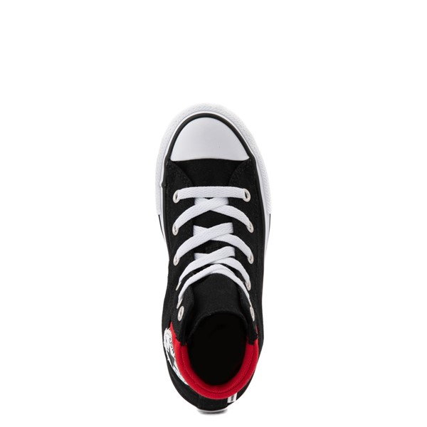 alternate view Converse Padded Collar Chuck Taylor All Star Hi Sneaker - Little Kid / Big Kid - Black / RedALT2