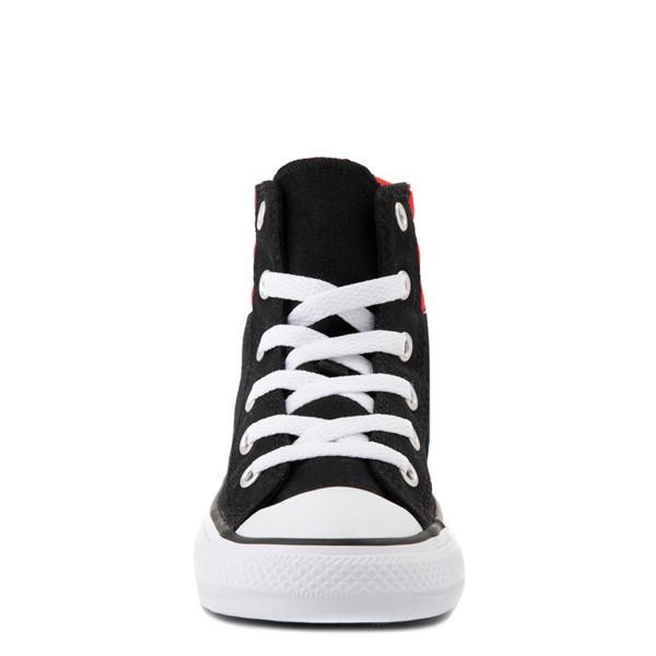 alternate view Converse Padded Collar Chuck Taylor All Star Hi Sneaker - Little Kid / Big Kid - Black / RedALT4