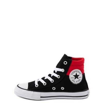 Alternate view of Converse Padded Collar Chuck Taylor All Star Hi Sneaker - Little Kid / Big Kid - Black / Red