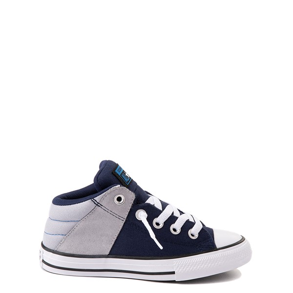 Main view of Converse Chuck Taylor All Star Axel Mid Sneaker - Little Kid / Big Kid - Navy / Gravel