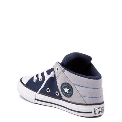 Alternate view of Converse Chuck Taylor All Star Axel Mid Sneaker - Little Kid / Big Kid - Navy / Gravel