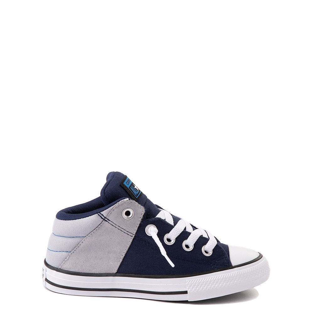 Converse Chuck Taylor All Star Axel Mid Sneaker - Little Kid / Big Kid - Navy / Gravel