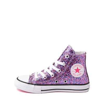 Alternate view of Converse Chuck Taylor All Star Hi Glitter Sneaker - Little Kid / Big Kid - Bold Pink