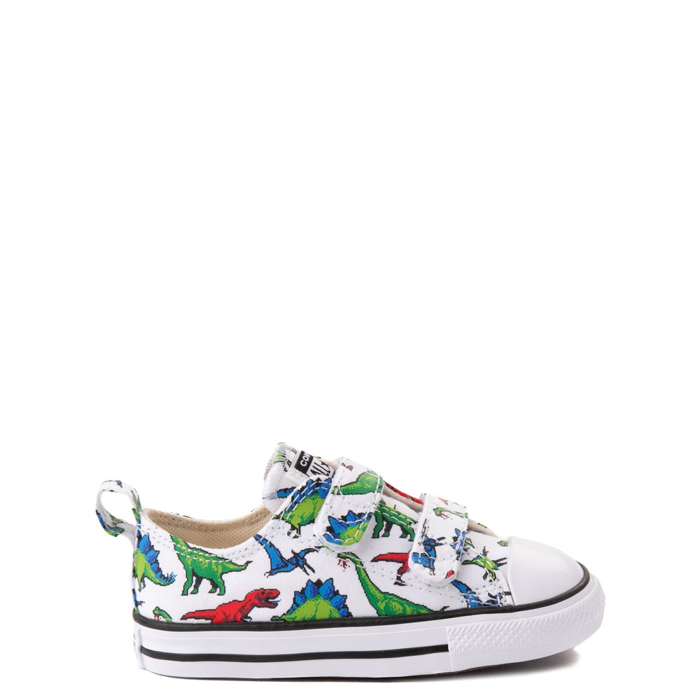 Converse Chuck Taylor All Star 2V Lo Dinos Sneaker - Baby / Toddler - White