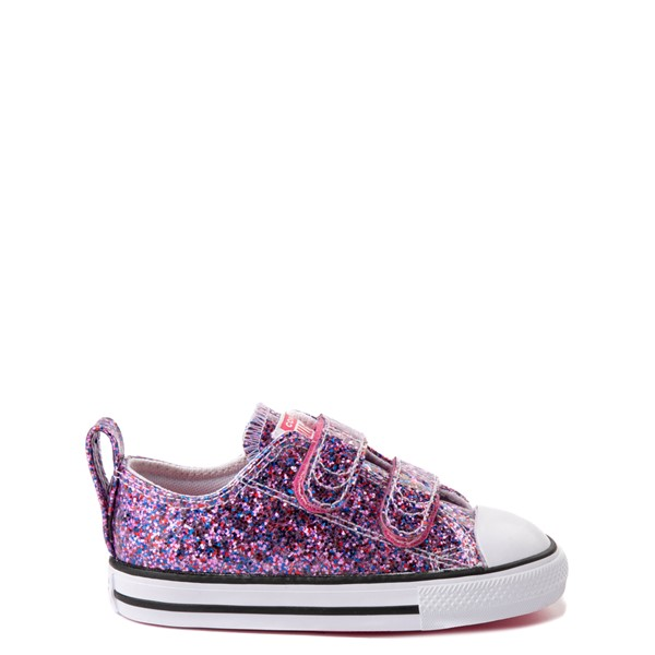 Main view of Converse Chuck Taylor All Star 2V Lo Glitter Sneaker - Baby / Toddler - Bold Pink