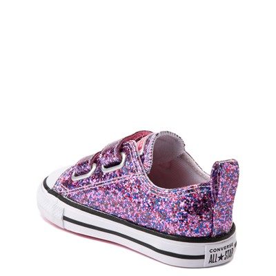 Alternate view of Converse Chuck Taylor All Star 2V Lo Glitter Sneaker - Baby / Toddler - Bold Pink