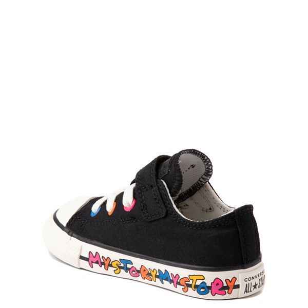 alternate view Converse Chuck Taylor All Star 1V Lo My Story Sneaker - Baby / Toddler - BlackALT1