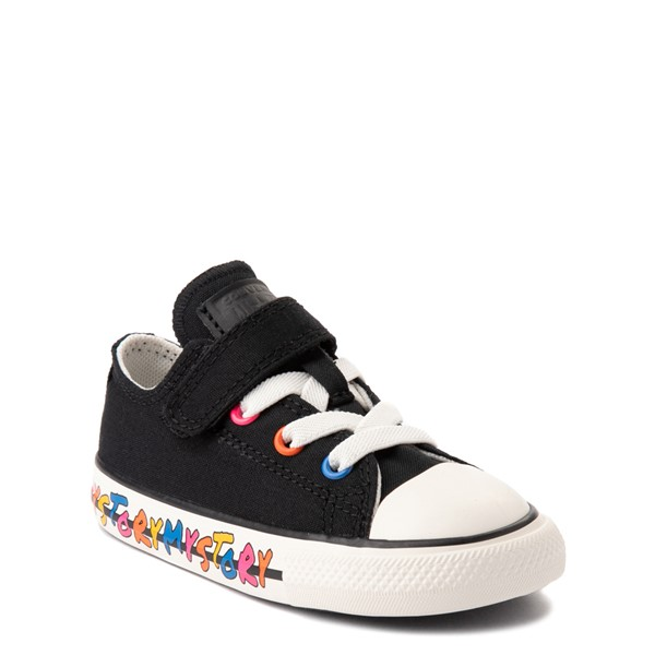 alternate view Converse Chuck Taylor All Star 1V Lo My Story Sneaker - Baby / Toddler - BlackALT5