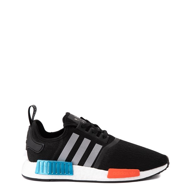Main view of Mens adidas NMD R1 Athletic Shoe - Core Black / Silver / Solar Red