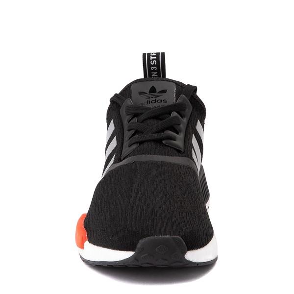 alternate view Mens adidas NMD R1 Athletic Shoe - Core Black / Silver / Solar RedALT4
