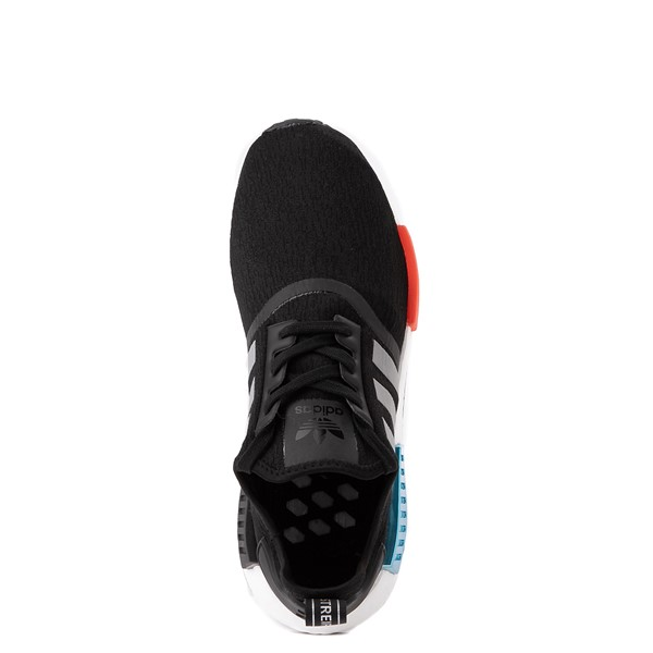 alternate view Mens adidas NMD R1 Athletic Shoe - Core Black / Silver / Solar RedALT4B