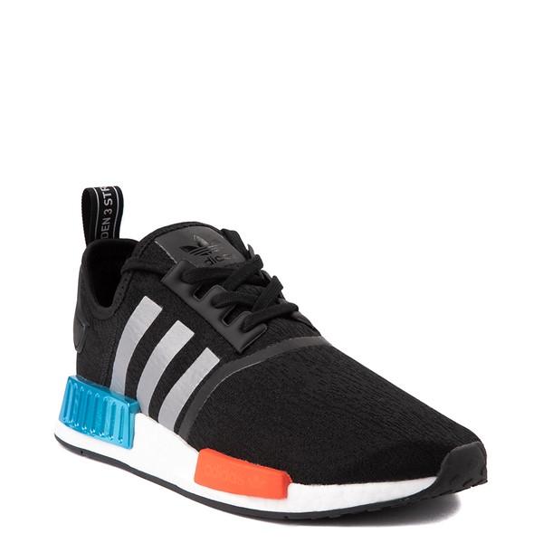alternate view Mens adidas NMD R1 Athletic Shoe - Core Black / Silver / Solar RedALT5