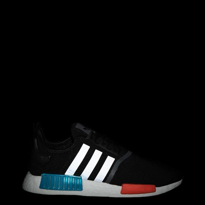 Alternate view of Mens adidas NMD R1 Athletic Shoe - Core Black / Silver / Solar Red