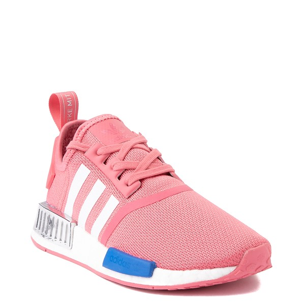 alternate view Womens adidas NMD R1 Athletic Shoe - Hazy Rose / White / Glory BlueALT5