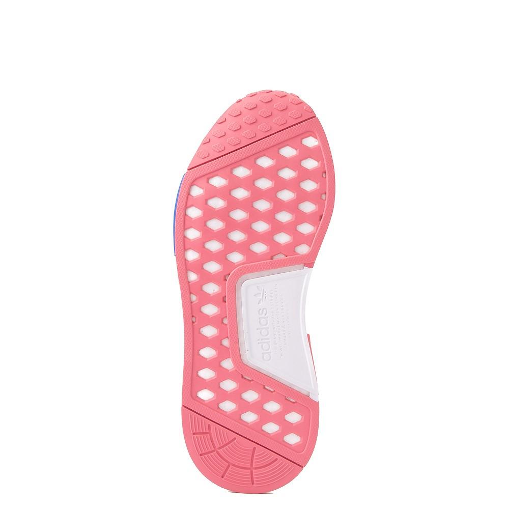 Womens adidas NMD R1 Athletic Shoe - Hazy Rose / White / Glory Blue