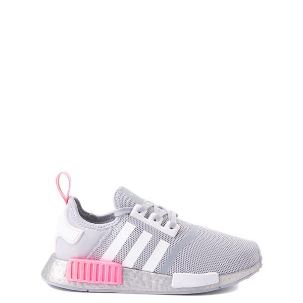 Main view of adidas NMD R1 Athletic Shoe - Big Kid - Gray / Pink