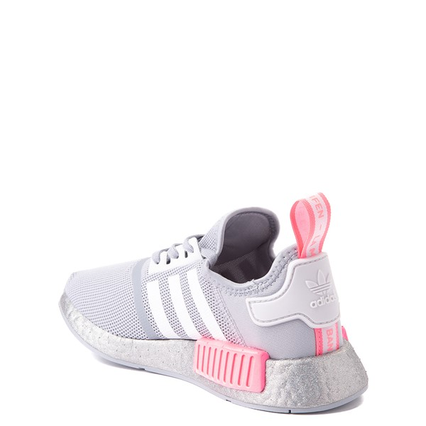 alternate view adidas NMD R1 Athletic Shoe - Big Kid - Gray / PinkALT1