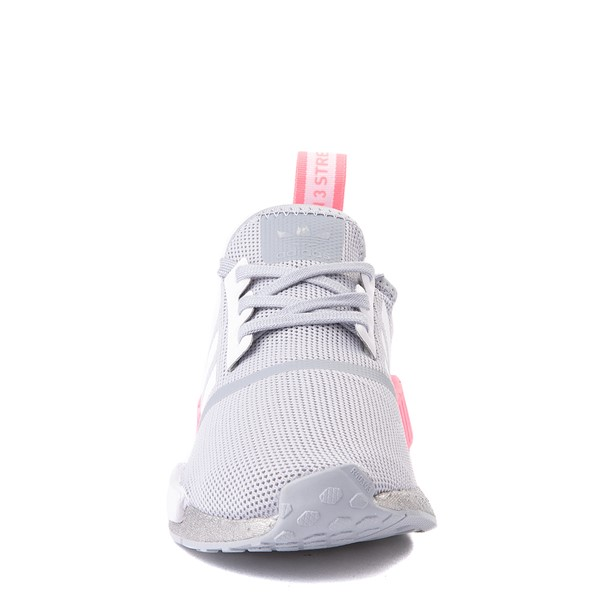 alternate view adidas NMD R1 Athletic Shoe - Big Kid - Gray / PinkALT4