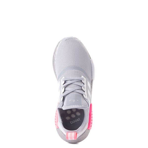 alternate view adidas NMD R1 Athletic Shoe - Big Kid - Gray / PinkALT4B