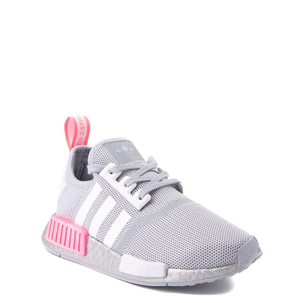 alternate view adidas NMD R1 Athletic Shoe - Big Kid - Gray / PinkALT5
