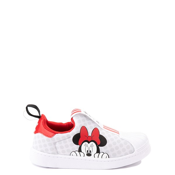 adidas x Disney Superstar 360 Minnie Mouse Slip On Athletic Shoe - Little Kid - White