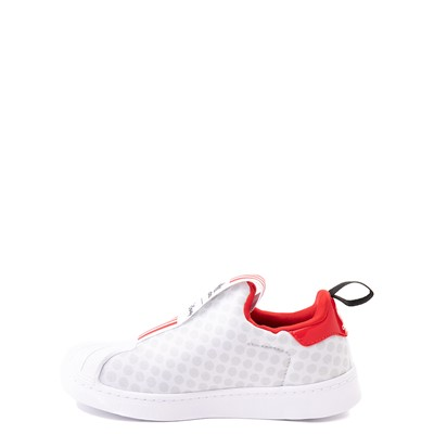 Alternate view of adidas x Disney Superstar 360 Minnie Mouse Slip On Athletic Shoe - Little Kid - White
