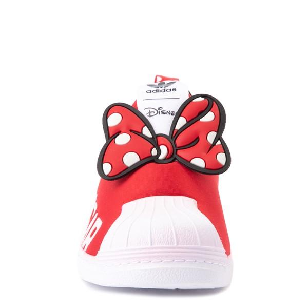 alternate view adidas x Disney Superstar 360 Minnie Mouse Slip On Athletic Shoe - Little Kid - RedALT4