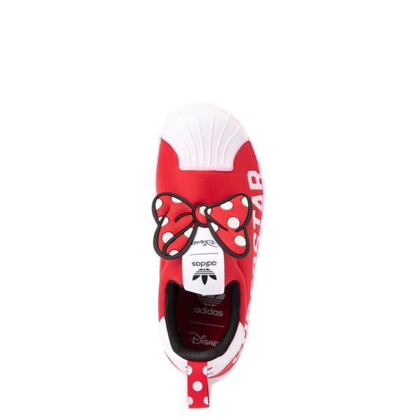 alternate view adidas x Disney Superstar 360 Minnie Mouse Slip On Athletic Shoe - Little Kid - RedALT4B