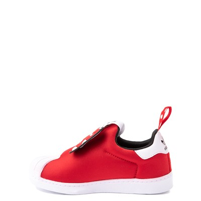 Alternate view of adidas x Disney Superstar 360 Minnie Mouse Slip On Athletic Shoe - Little Kid - Red