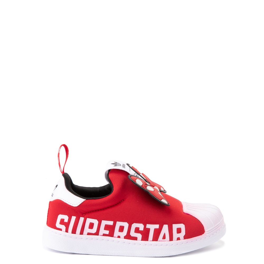 adidas x Disney Superstar 360 Minnie Mouse Slip On Athletic Shoe - Little Kid - Red