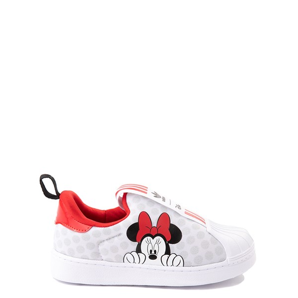 adidas x Disney Superstar 360 Minnie Mouse Slip On Athletic Shoe - Baby / Toddler - White
