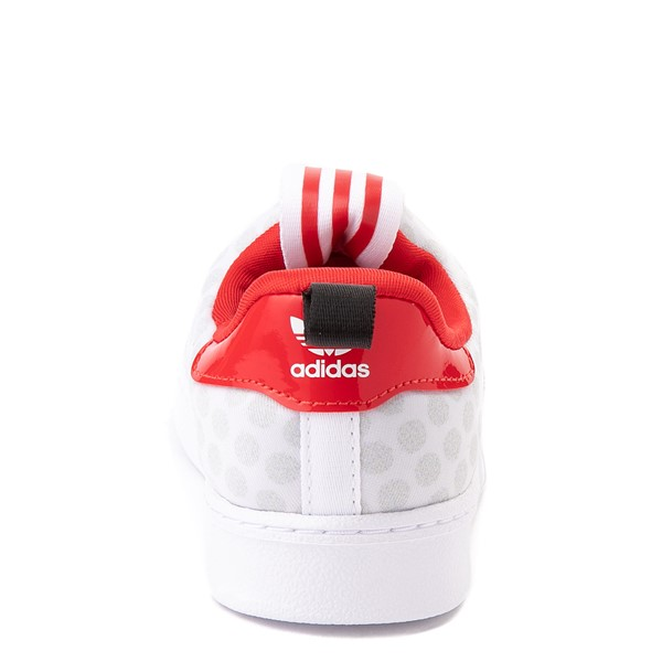 alternate view adidas x Disney Superstar 360 Minnie Mouse Slip On Athletic Shoe - Baby / Toddler - WhiteALT4