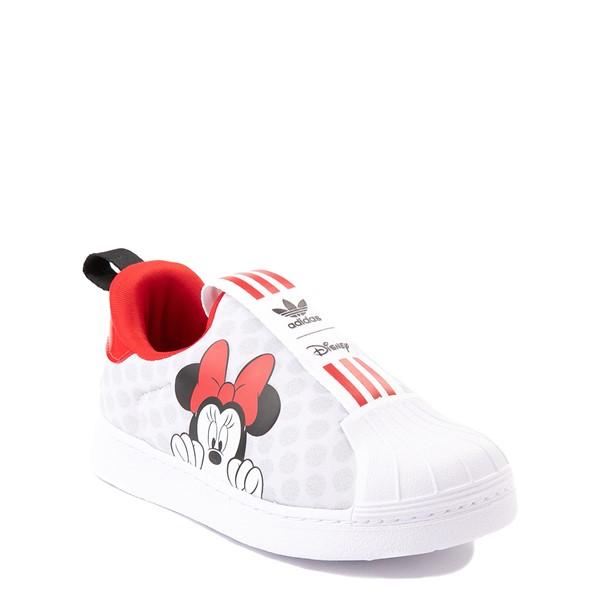 alternate view adidas x Disney Superstar 360 Minnie Mouse Slip On Athletic Shoe - Baby / Toddler - WhiteALT5