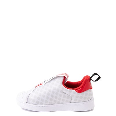 Alternate view of adidas x Disney Superstar 360 Minnie Mouse Slip On Athletic Shoe - Baby / Toddler - White