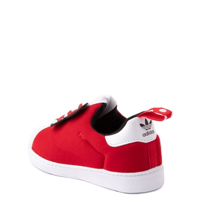 Alternate view of adidas x Disney Superstar 360 Minnie Mouse Slip On Athletic Shoe - Baby / Toddler - Red