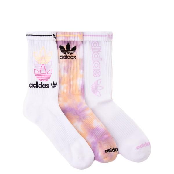 alternate view Mens adidas Clear Wash Crew Socks 3 Pack - MulticolorALT1