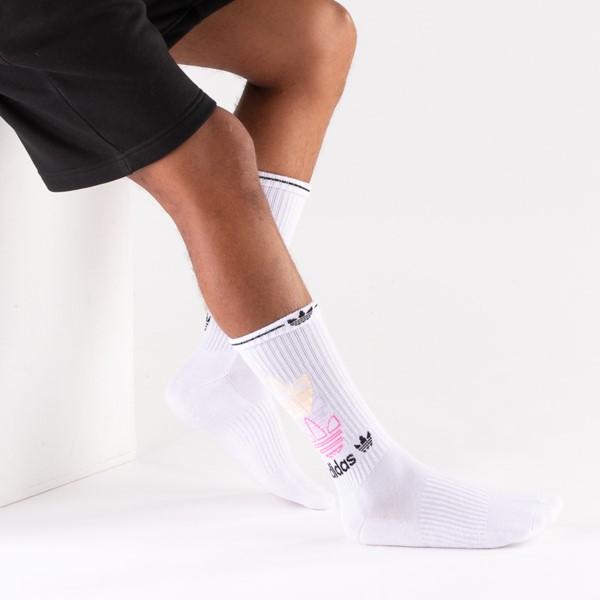 alternate view Mens adidas Clear Wash Crew Socks 3 Pack - MulticolorALT2