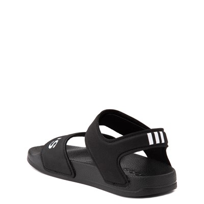 Alternate view of adidas Adilette Athletic Sandal - Little Kid / Big Kid - Black