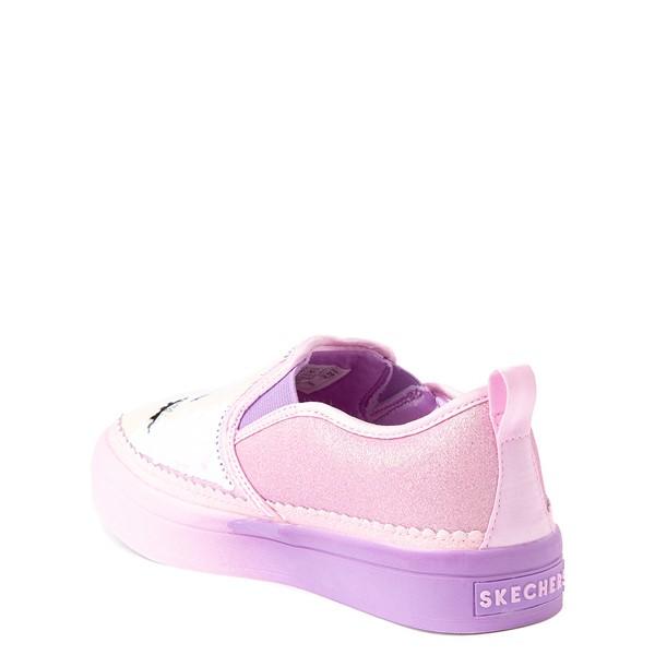 alternate view Skechers Flip Kicks Twi-Lights Unicorn Daydreams Slip On Sneaker - Little Kid - Pink / SilverALT2