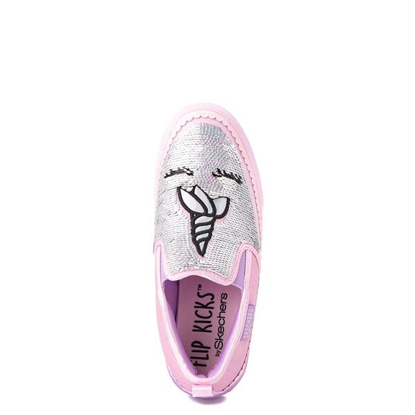alternate view Skechers Flip Kicks Twi-Lights Unicorn Daydreams Slip On Sneaker - Little Kid - Pink / SilverALT4B