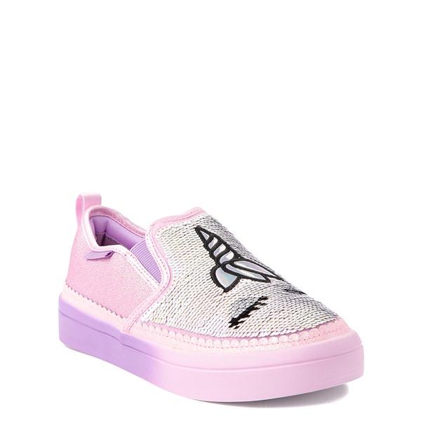 alternate view Skechers Flip Kicks Twi-Lights Unicorn Daydreams Slip On Sneaker - Little Kid - Pink / SilverALT5