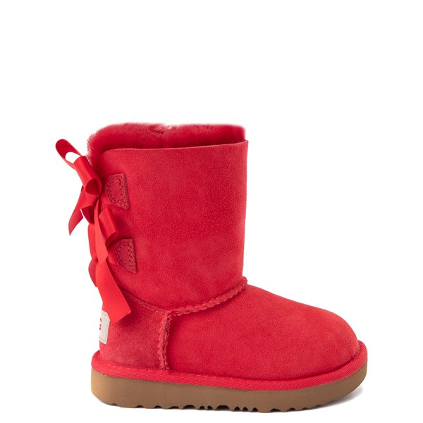 Main view of UGG® Bailey Bow II Boot - Toddler / Little Kid - Ribbon Red