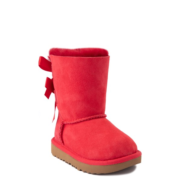 alternate view UGG® Bailey Bow II Boot - Toddler / Little Kid - Ribbon RedALT1