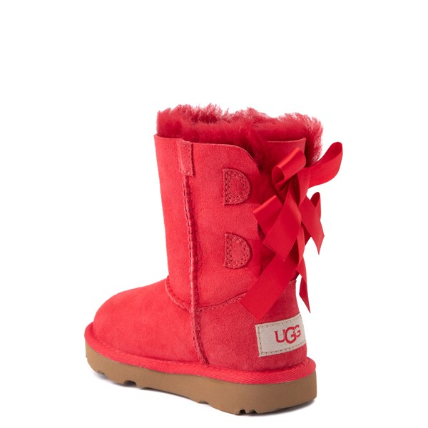 alternate view UGG® Bailey Bow II Boot - Toddler / Little Kid - Ribbon RedALT2