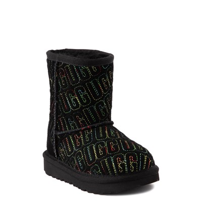 Alternate view of UGG® Classic II Graphic Stitch Boot - Toddler / Little Kid - Black / Rainbow