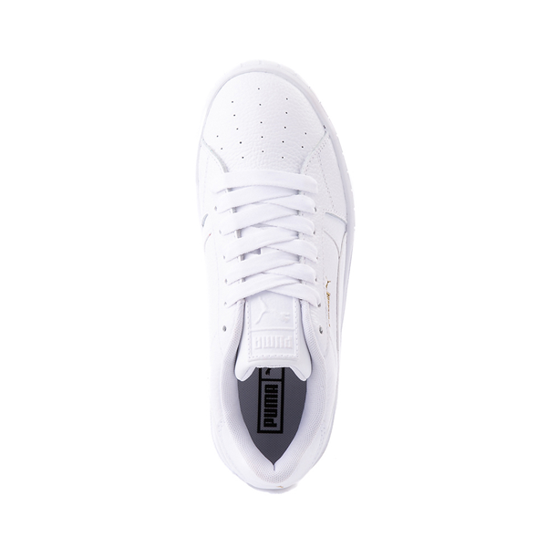 alternate view Womens Puma Cali Star Athletic Shoe - White / GoldALT2